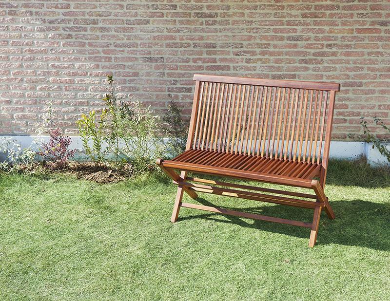(送料無料) ガーデン ベンチ単品 チーク天然木 折りたたみ式本格派リビングガーデンファニチャー モッソ ベンチチェアー ベンチチェア リビング 椅子 イス いす 食卓椅子 折畳み 折り畳み 木製 高級感 おしゃれ 北欧モダン