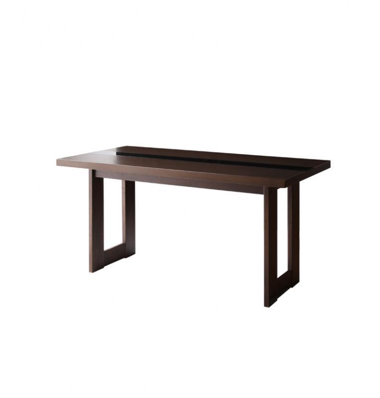 (送料無料) テーブル ダイニングテーブル 食卓テーブル モダンデザインダイニング 木製テーブル -ウッド×ブラックガラスダイニングテーブル単品 (幅150cm)- モダン 家具通販 新生活 敬老の日