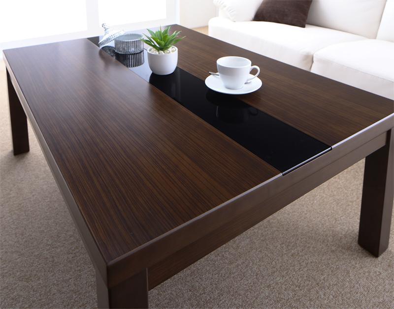 アーバンモダンデザインこたつ GWILT SFK グウィルト エスエフケー こたつテーブル単品 長方形(75×105cm)