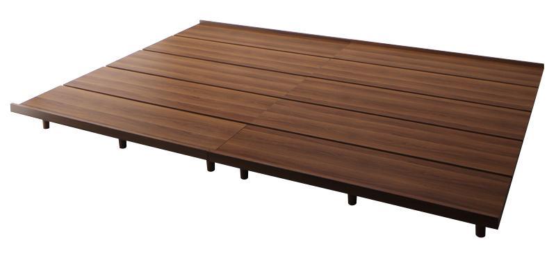 (送料無料) ローベッド フロアベッド ベッドフレームのみ ワイドK240(シングルサイズ+ダブルサイズ) レギュラー丈 ファミリーベッド ライラオールソン 木製ベッド 家族 連結ベッド