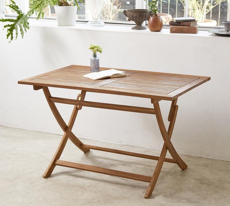 アカシア天然木 折りたたみ式ナチュラルガーデンファニチャー Relat リラト テーブル W120 *500024512