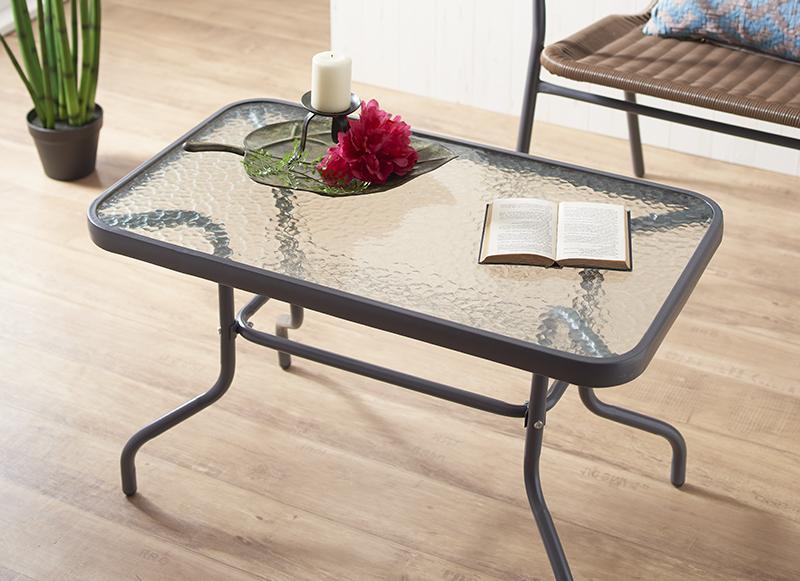 ラタン調リゾートガーデンファニチャー Rashar ラシャル テーブル W80