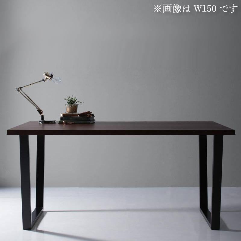 天然木天板 スチール脚 モダンデザインテーブル Gently ジェントリー ブラウン V字脚 W120