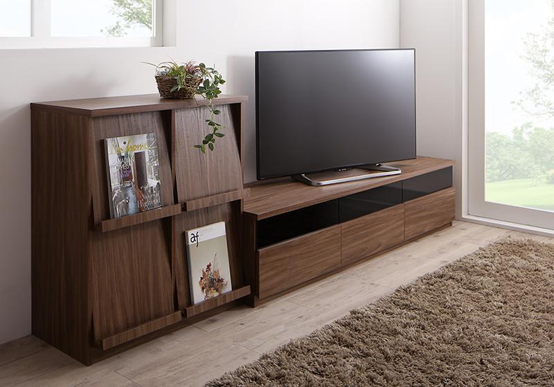 リビングボードが選べるテレビ台シリーズ TV-line テレビライン 2点セット(テレビボード+フラップチェスト) 幅180