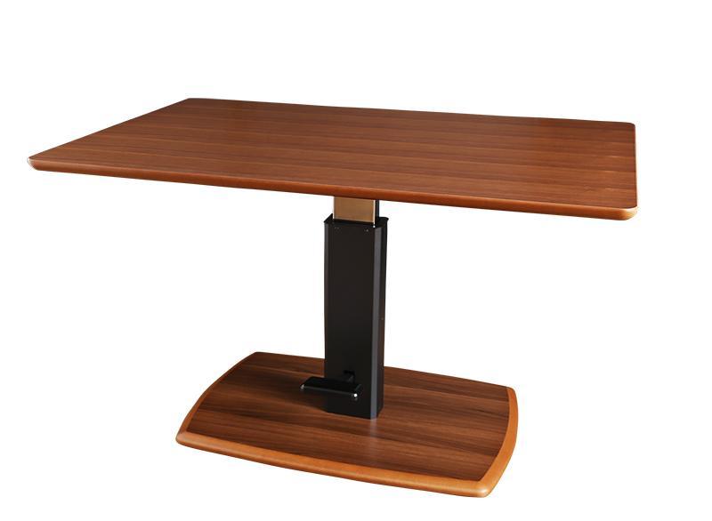 木製 モダンリフトテーブルリビングダイニング 昇降 角型 リモード ダイニングテーブル単品 ホワイト (送料無料) ウォールナットブラウン 高さ調整 幅120cm LIMODE リフティング リビングテーブル