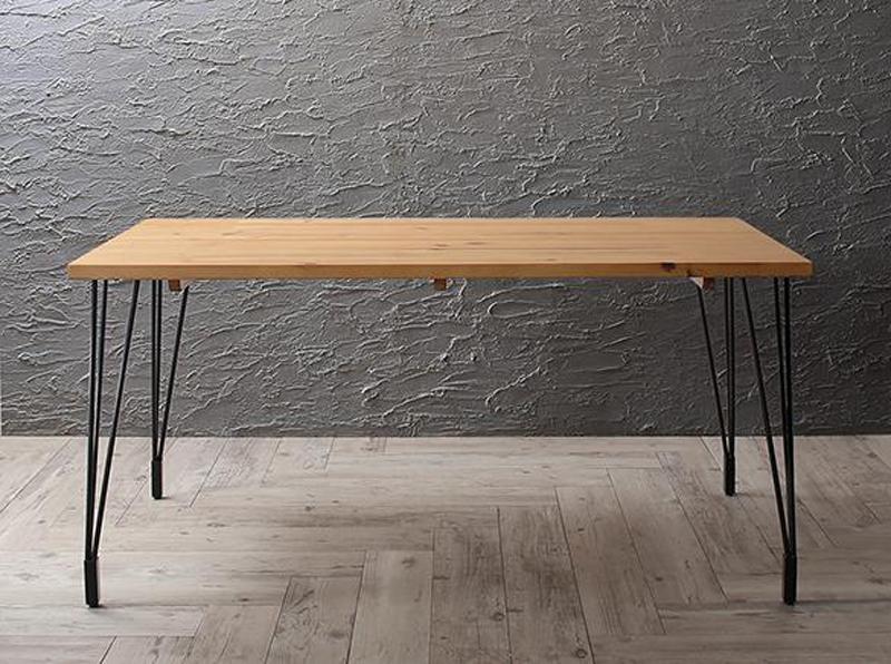 (送料無料) ダイニングテーブルのみ 幅150cm 奥行き75cm ヴィンテージ インダストリアルデザイン ダイニング リビング Almont オルモント 食卓 木製 角型 ナチュラル