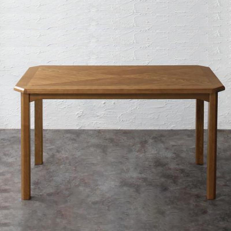 (送料無料) ダイニングテーブルのみ 幅130cm 奥行き70cm 天然木 オーク材 ヴィンテージデザイン ダイニング Dryden ドライデン 食卓 テーブル 木製 角型 ブラウン モダン