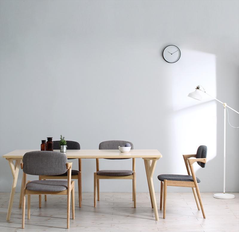 (送料無料) ダイニングテーブルセット 5点セット(テーブル 幅170cm +チェア4脚) 北欧ナチュラルモダンデザイン天然木ダイニングセット Wors ヴォルス 木製 4人掛け 4人用 角型 食卓 ライトグレー チャコールグレー