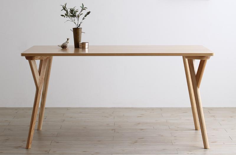 (送料無料) ダイニングテーブル単品 幅140cm 奥行き80cm 高さ70cm 北欧ナチュラルモダンデザイン天然木ダイニング Wors ヴォルス 木製 4人掛け 4人用 角型 食卓 ナチュラル
