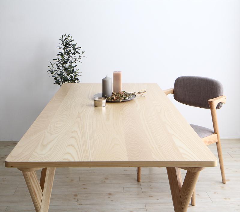 (送料無料) ダイニングテーブル単品 幅170cm 奥行き80cm 高さ70cm 北欧ナチュラルモダンデザイン天然木ダイニング Wors ヴォルス 木製 4人掛け 4人用 角型 食卓 ナチュラル