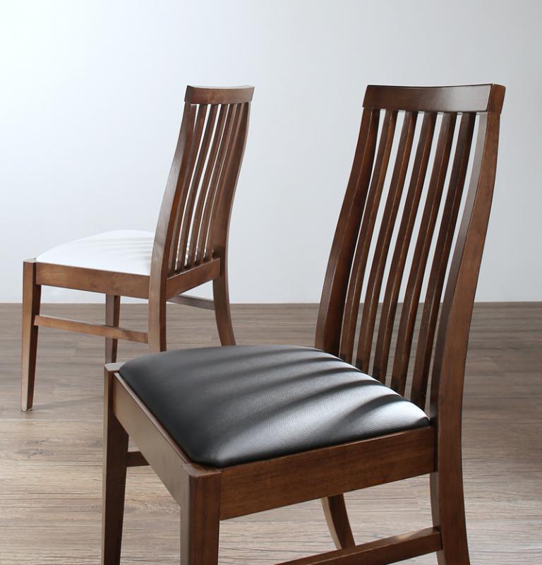 (送料無料) ダイニング 椅子単品 2脚組 天然木ハイバックチェア ダイニング Austin オースティン ダイニングチェア ハイバック いす イス チェアー 木製 合成皮革 ブラック ホワイト
