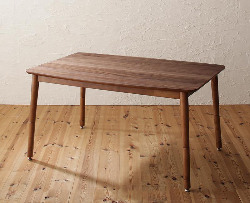 (送料無料) ダイニングこたつ テーブル単品 幅120×奥行き80×高さ36.5/41.5/55/60cm 高さ調節 リビングダイニング Repol ルポール ダイニングこたつテーブル 継ぎ脚 食卓テーブル 天然木 ウォールナット ブラウン
