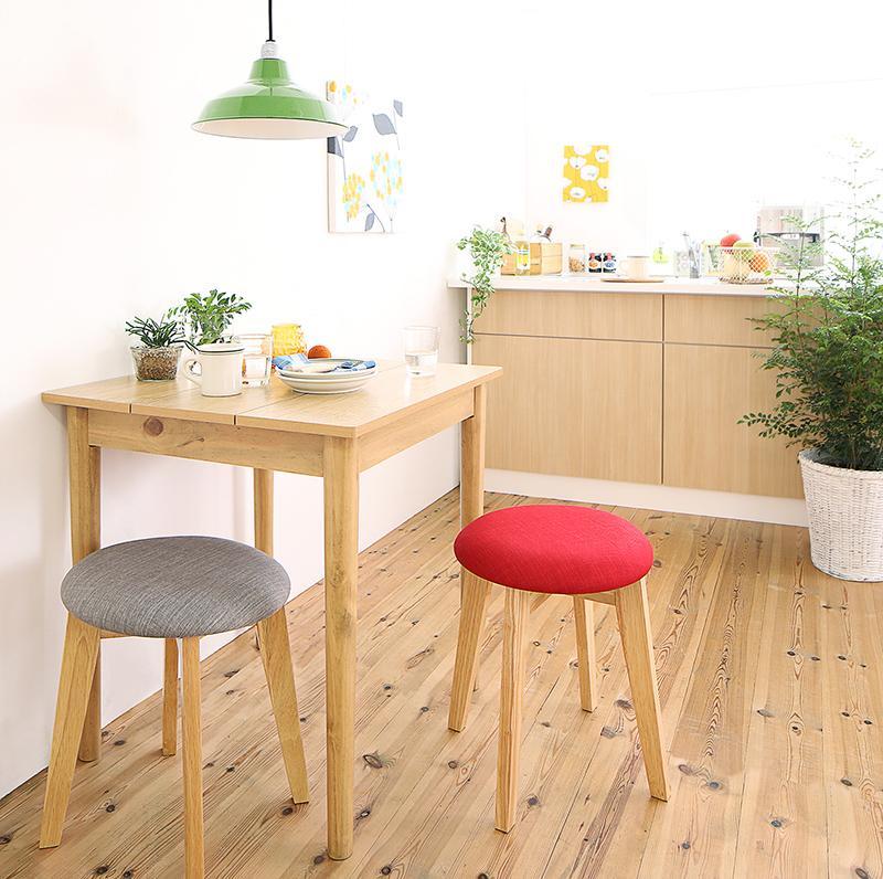(送料無料) ダイニングセット 3点セット(テーブル W68 ナチュラル +スツール2脚) 1Kでも置ける横幅68cmコンパクトダイニングセット idea イデア 木製 食卓 角型 アイボリー ブラウン ライトグレー ブルー レッド