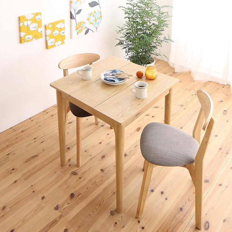 (送料無料) ダイニングセット 3点セット(テーブル W68 ナチュラル +チェア2脚) 1Kでも置ける横幅68cmコンパクトダイニングセット idea イデア 木製 食卓 角型 アイボリー ブラウン ライトグレー ブルー レッド