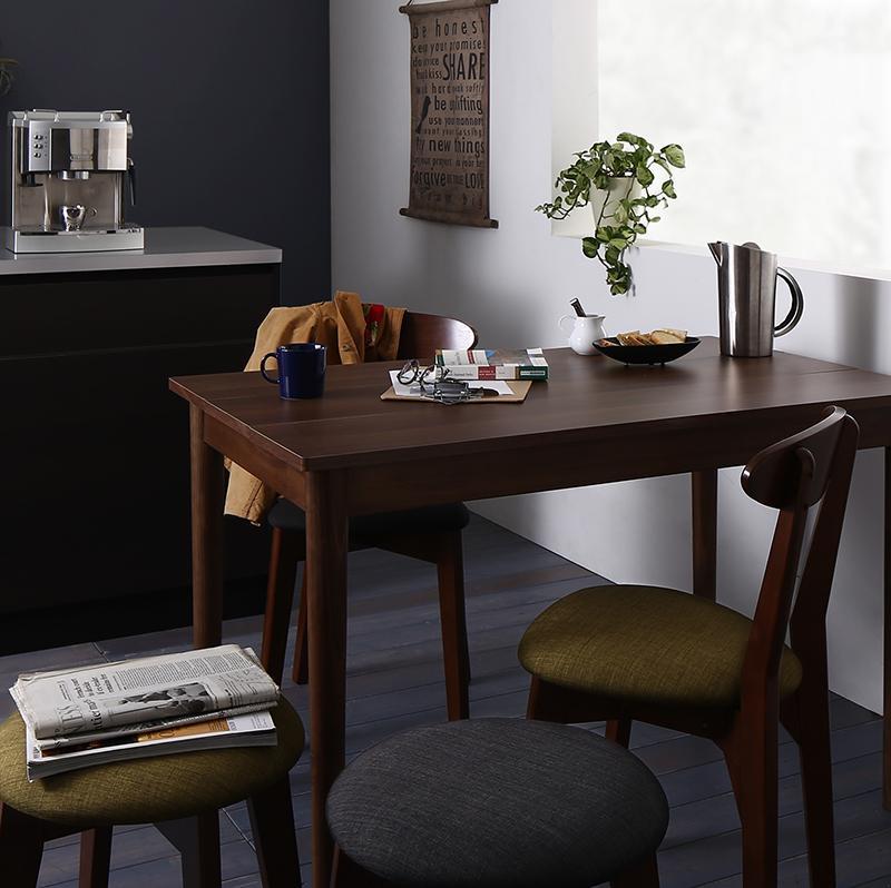 (送料無料) ダイニングセット 3点セット(テーブル ブラウン W115+チェア2脚) カフェ ヴィンテージ ダイニング Mumford マムフォード 木製 食卓 2人掛け ダークグレー グリーン
