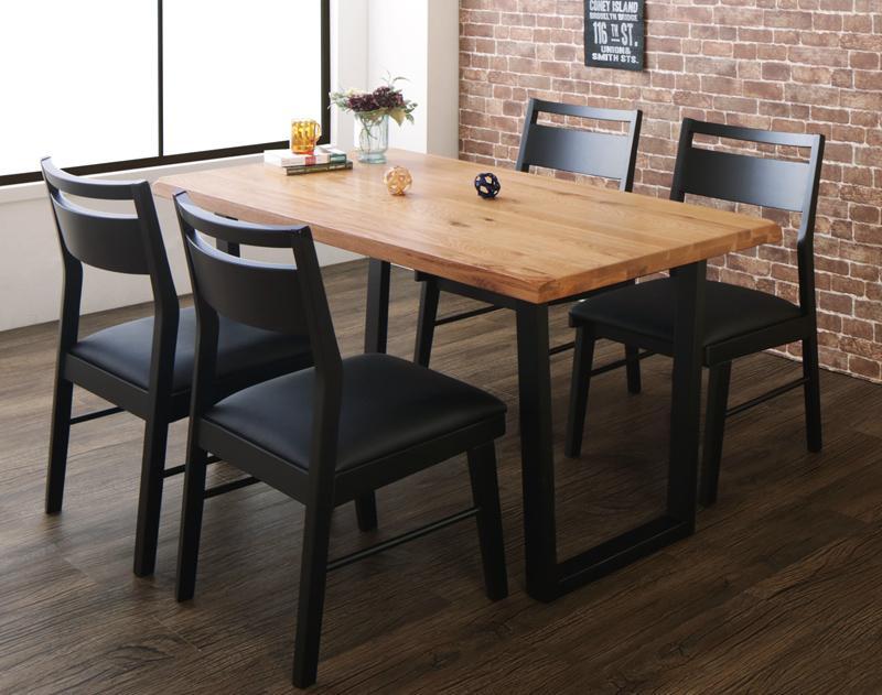 (送料無料) ダイニング テーブル 5点セット ( ダイニングテーブル 幅140 + チェア4脚 ) オーク 無垢材 ヴィンテージデザインダイニング Coups クプス ダイニングセット 木製 天然木 食卓テーブルセット ヴィンテージオーク