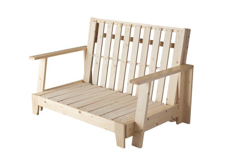 (送料無料) ソファベッド フレームのみ 140cm セミダブルベッド 素材と品質にこだわった セミダブル天然木すのこソファベッド LAXZERIA ラグゼリア ソファーベッド 木製 北欧 天然木 ナチュラル