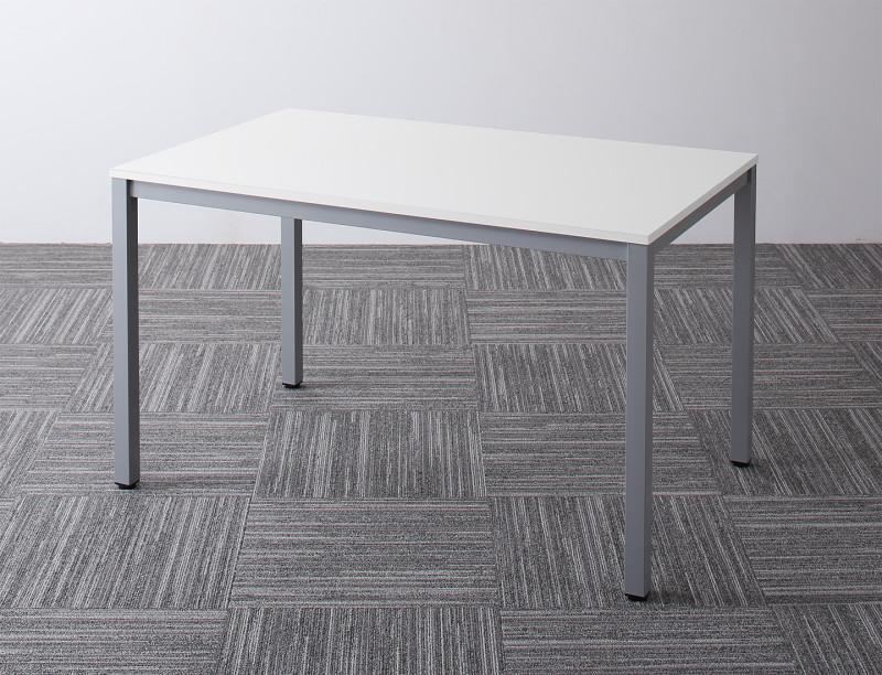 (送料無料) オフィスデスク テーブルのみ 幅120 奥行き75 高さ70cm Sylvio シルビオ オフィステーブル おしゃれ 120 W120 木製 スチール脚 平机 ダークブラウン ホワイト ナチュラル