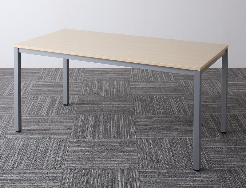 (送料無料) オフィスデスク テーブルのみ 幅150 奥行き75 高さ70cm Sylvio シルビオ オフィステーブル おしゃれ 120 W120 木製 スチール脚 平机 ダークブラウン ホワイト ナチュラル