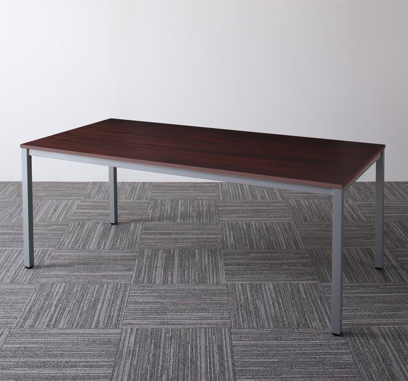 ナチュラル 幅180 平机 ホワイト オフィスデスク オフィステーブル スチール脚 Sylvio おしゃれ (送料無料) 木製 W120 テーブルのみ 高さ70cm ダークブラウン 120 シルビオ 奥行き90