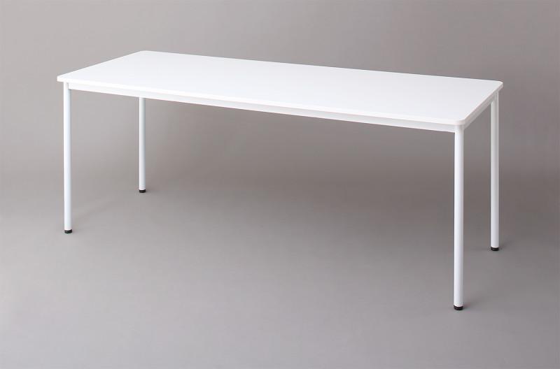 (送料無料) オフィスワークテーブルのみ 幅180 奥行き70 高さ70cm 多目的オフィスワークテーブル CURAT キュレート オフィステーブル 木製 スチール脚 平机 ダークブラウン ホワイト ナチュラル