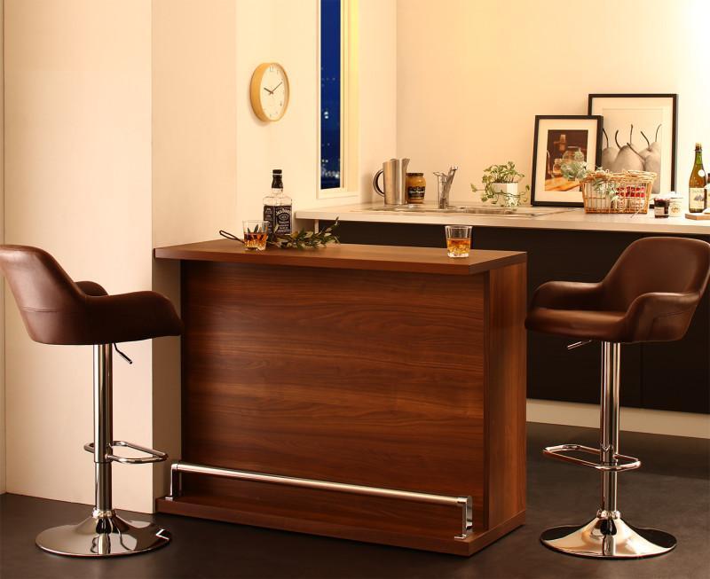 (送料無料) カウンターテーブル セット (テーブル 幅110 +カウンターチェア2脚) 3点セット 省スペースタイプ 収納付き 本格バースタイル 間仕切り カウンターダイニングセット Belck ベルク 木製 収納 角型 ブラック ブラウン
