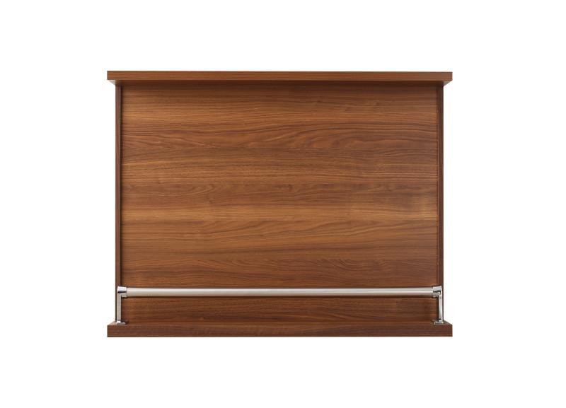 (送料無料) カウンターテーブルのみ 省スペースタイプ 幅110 収納付き 本格バースタイル 間仕切り カウンターダイニング Belck ベルク バーテーブル 木製 収納 角型 ブラウン