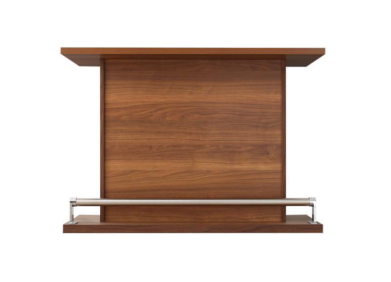 (送料無料) カウンターテーブルのみ 省スペースタイプ 幅120 収納付き 本格バースタイル 間仕切り カウンターダイニング Belck ベルク バーテーブル 木製 収納 角型 ブラウン