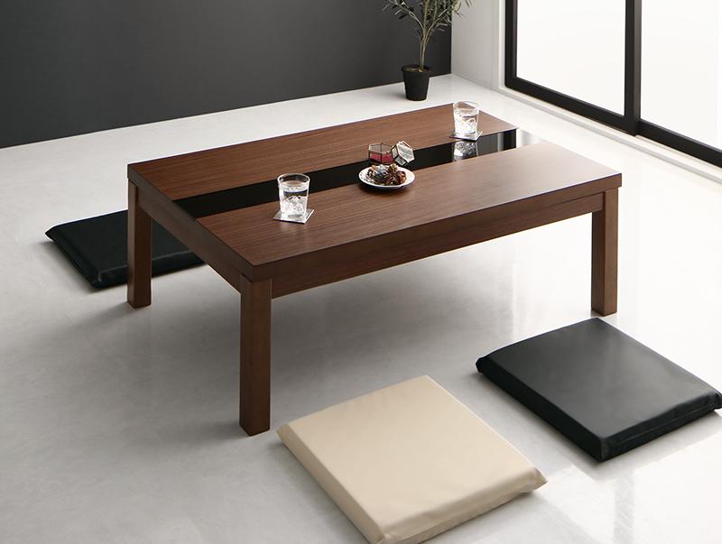ワイドサイズ アーバンモダンデザインこたつテーブル GWILT-WIDE グウィルトワイド 4尺長方形(80×120cm)