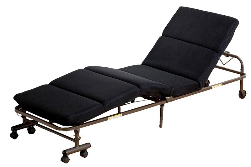 送料無料 モコモコ コンパクト 折りたたみベッド 簡易ベッド 仮眠室 折り畳み リクライニングベッド スリム キャスター付き おしゃれ ひとり暮らし ベット ブラック
