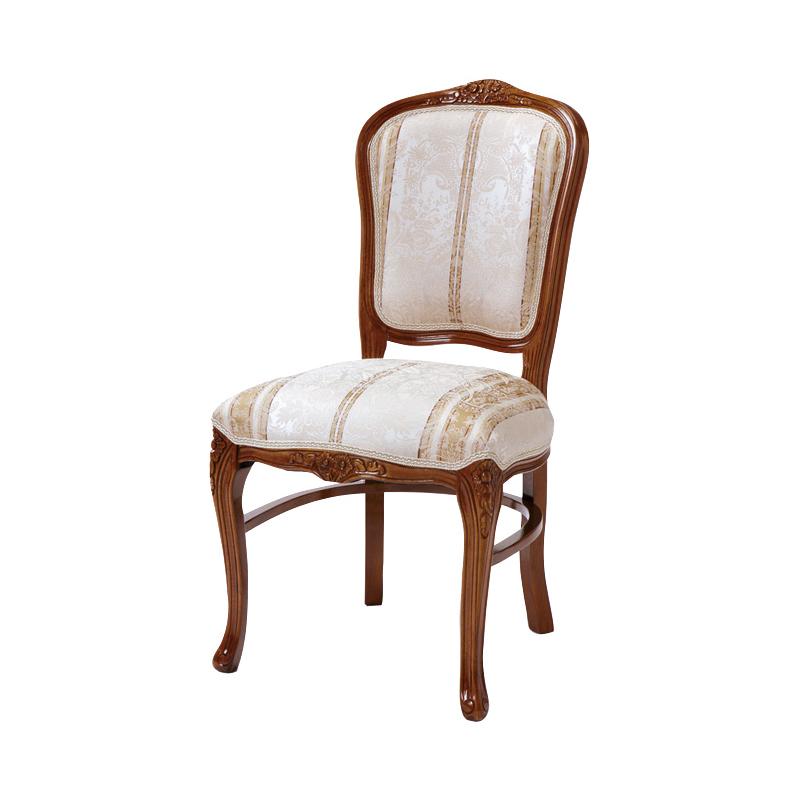 送料無料 ダイニングチェア アンティーク おしゃれ 木製 1人 猫脚 フィオーレ ダイニングチェアー イス 椅子 エレガント 高級感 ブラウン 茶 SA-C-1175-B4