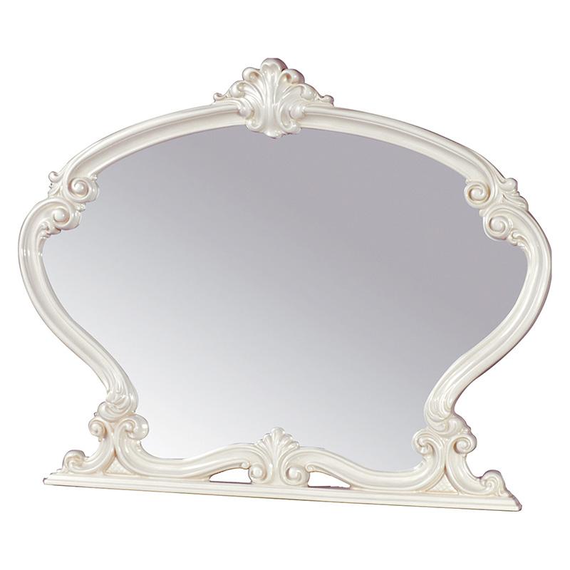 送料無料 ミラー 壁掛け アンティーク おしゃれ 木製 フローレンス 鏡 エレガント 高級感 アイボリー SFLI-501-IV