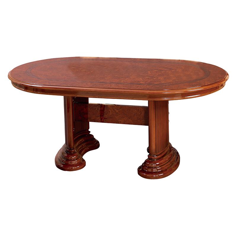 送料無料 開梱設置サービス付き ダイニングテーブル 幅175 奥行105 高さ73cm ラウンドテーブル 木製 フローレンス 食卓テーブル おしゃれ ブラウン 茶 SFLI-519-BR