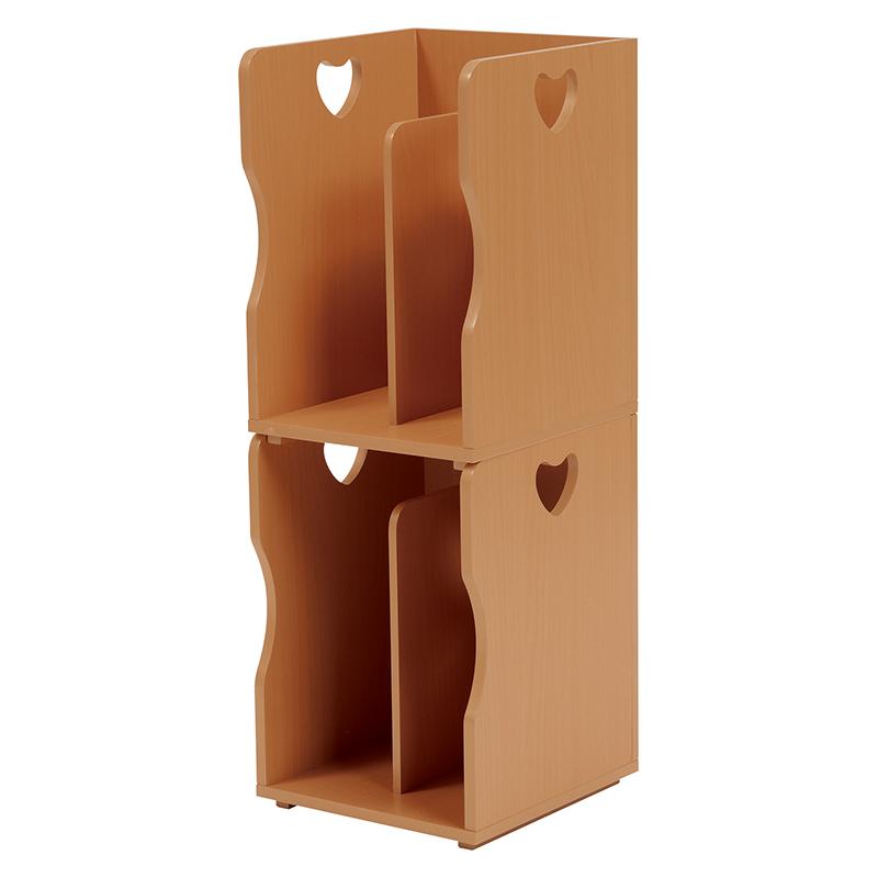 送料無料 4個セット ブックスタンド 木製 卓上 A4サイズ 本棚 シェルフ マガジンラック 本立て ナチュラル MM-6805NA