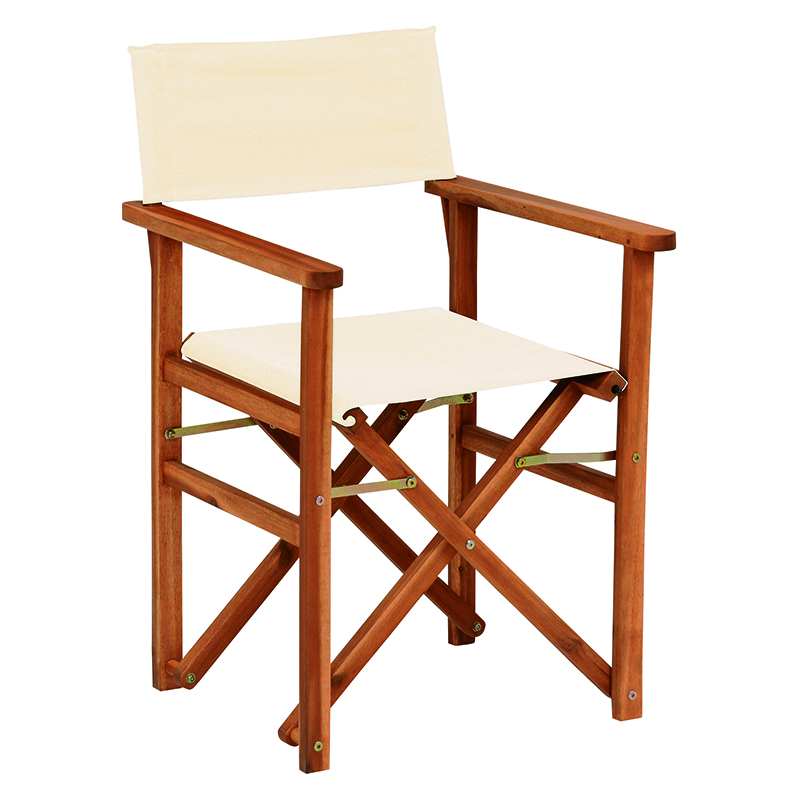 送料無料 2台セット ディレクターズ チェア ディレクターチェア 1人 おしゃれ 木製 椅子 チェア イス チェアー 折りたたみ アウトドアチェア コンパクト アイボリー VGC-7354IV-2