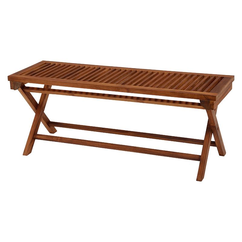 送料無料 チークガーデン フォールディングベンチ 屋外 折り畳み椅子 折畳み 折畳 折り畳み 長椅子 ベンチ おしゃれ RB-1598TK