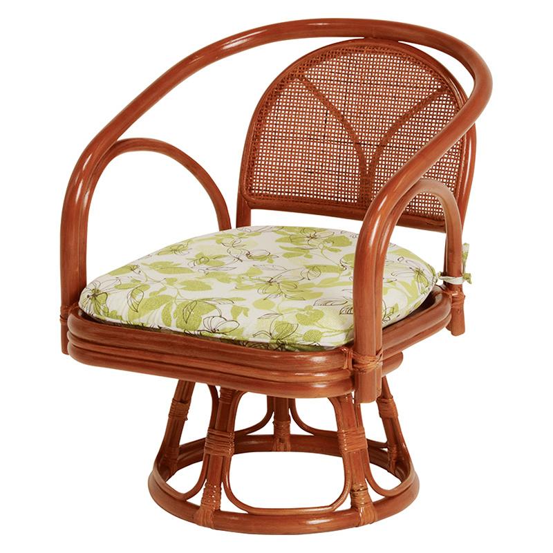 送料無料 3脚組 座椅子 回転 籐回転座椅子 籐 タラン 肘付き 回転椅子 回転チェア 籐チェアー 1人 おしゃれ 木製 椅子 チェア イス チェアー RZ-251