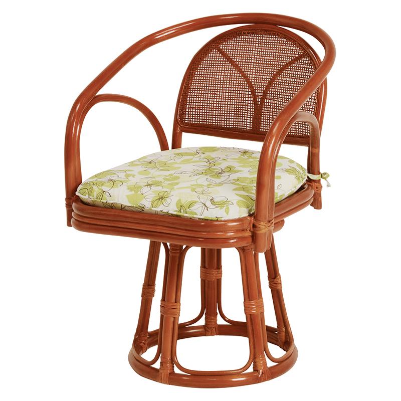送料無料 3脚組 座椅子 回転 籐回転座椅子 籐 タラン 肘付き 回転椅子 回転チェア 籐チェアー 1人 おしゃれ 木製 椅子 チェア イス チェアー RZ-251-H