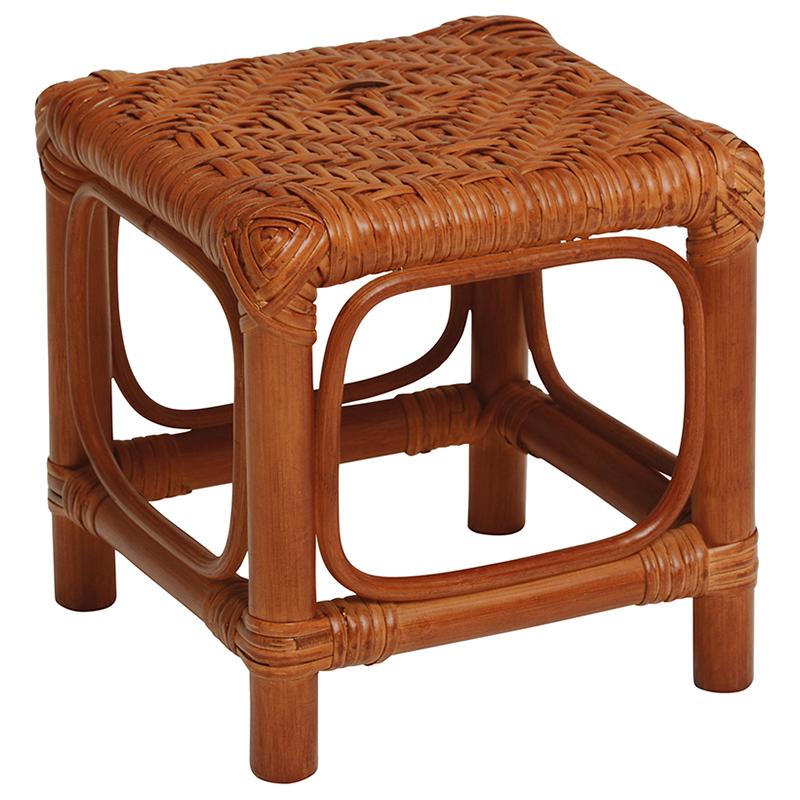 送料無料 12個セット 籐ミニスツール コンパクト 椅子 木製 おしゃれ 籐 手編み 腰掛台 RH-152BR