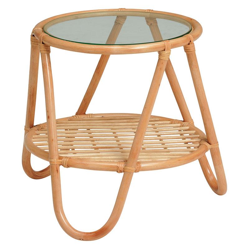 送料無料 籐テーブル サイドテーブル 木製 テーブル センターテーブル ローテーブル おしゃれ ナチュラル RT-1079NA