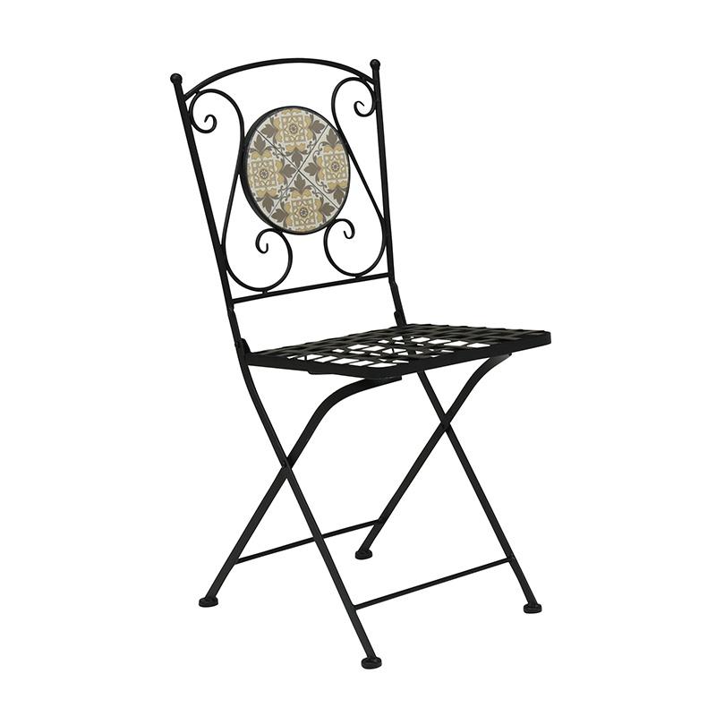 送料無料 チェア 折り畳みチェアー ガーデンチェア イス 椅子 カフェ テラス 折りたたみ ベランダ ガーデンファニチャー スチール アウトドアチェア ビーチチェア おしゃれ LC-4391