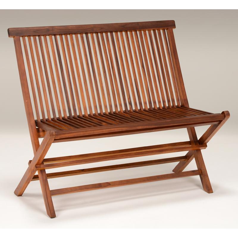 送料無料 折りたたみ木製ベンチ 椅子 庭 ガーデンベンチ ガーデンファニチャー【RB-1592TK】