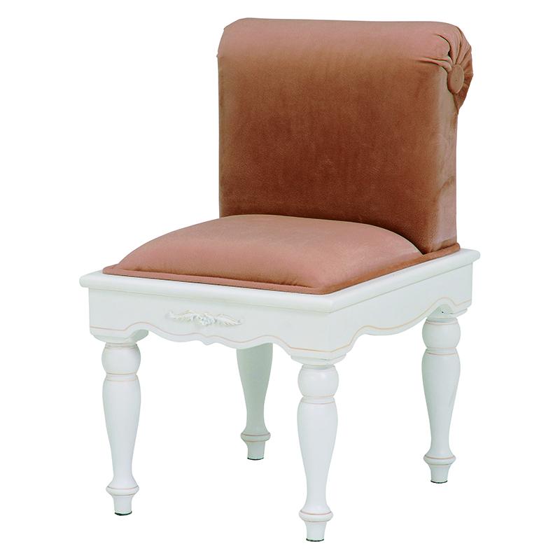 送料無料 アンティーク風スツール おしゃれ チェア 女の子 かわいい レディース 椅子 北欧【RH-1672】