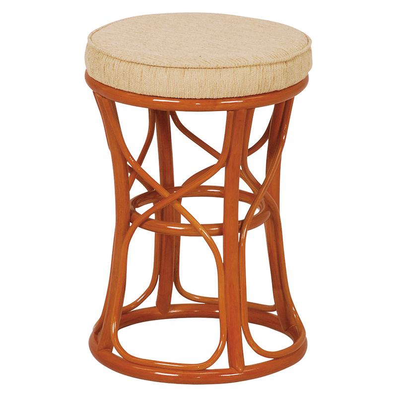 送料無料 ラタンスツール【4個セット】 椅子 チェア 風呂場 脱衣所 ナチュラル【RH-773NA】