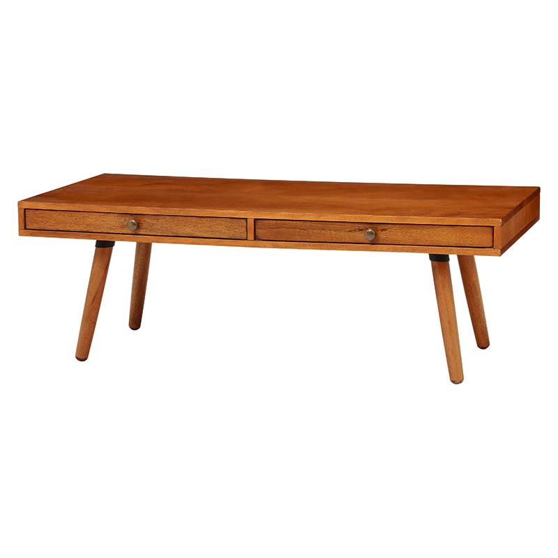送料無料 木製ローテーブル 和風 カルマシリーズ ローテーブル 木の質感 書斎 大人【RT-1392-110】