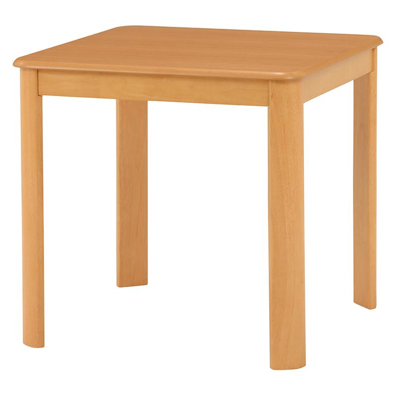 送料無料 ダイニングテーブル テーブル 正方形 丸角 机 ナチュラル デスク【VDT-7683NA】