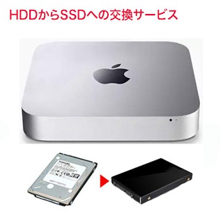 Mac mini 2014 ストレージ交換サービス (HDD から SSDに) 容量 1TB のSSD料金込み【お届け先→本州は往復送料無料】