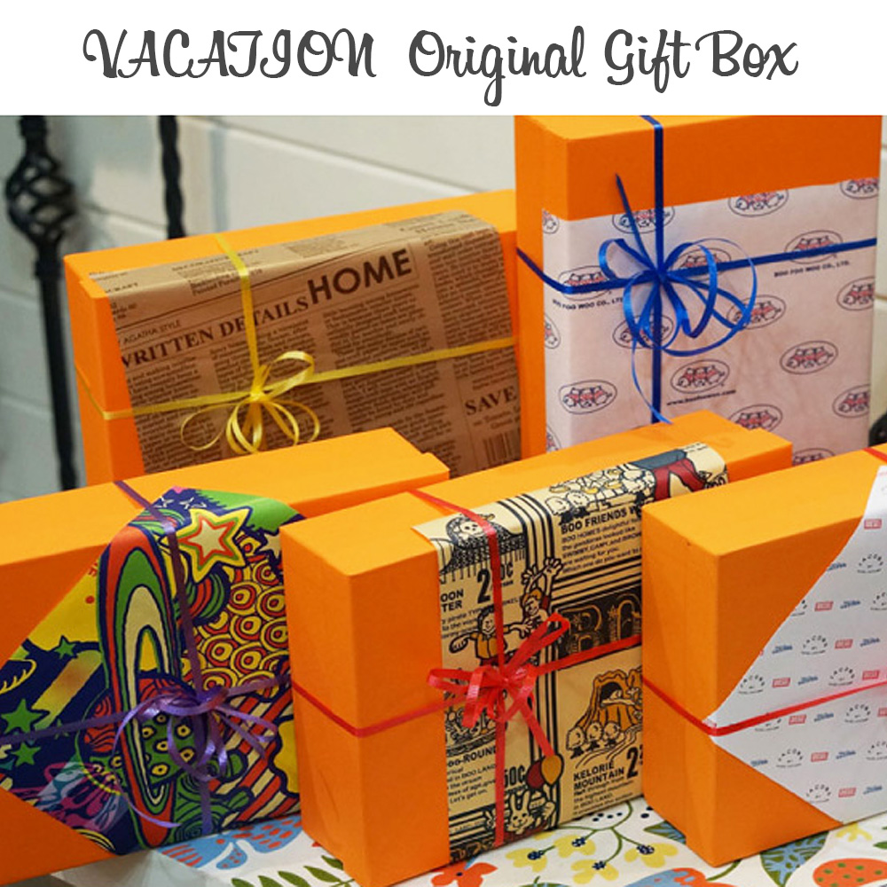 Vacation Original Gift Box And Wrapped Sale Covered Orange Color Wrapper Baby Birthday Gifts Children Clothing Childrens