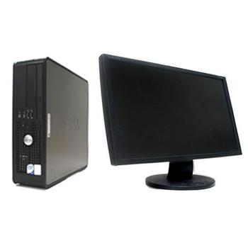 中古パソコン DELL Optiplex 780SF Windows7 Pro Core2Duo 3.0GHz 2GB 250GB DVDマルチ リカバリディスク 24インチワイド液晶 【中古】【デスクトップ】