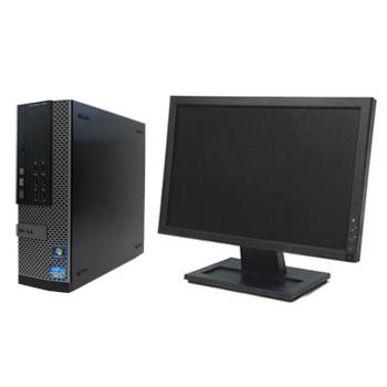 初期セットアップ済みですぐ使える! 中古パソコン DELL Optiplex 7010SF Windows10 Pro Core i5 3.2GHz 4GB 250GB DVDマルチ 22インチワイド液晶set 【中古】【デスクトップ】